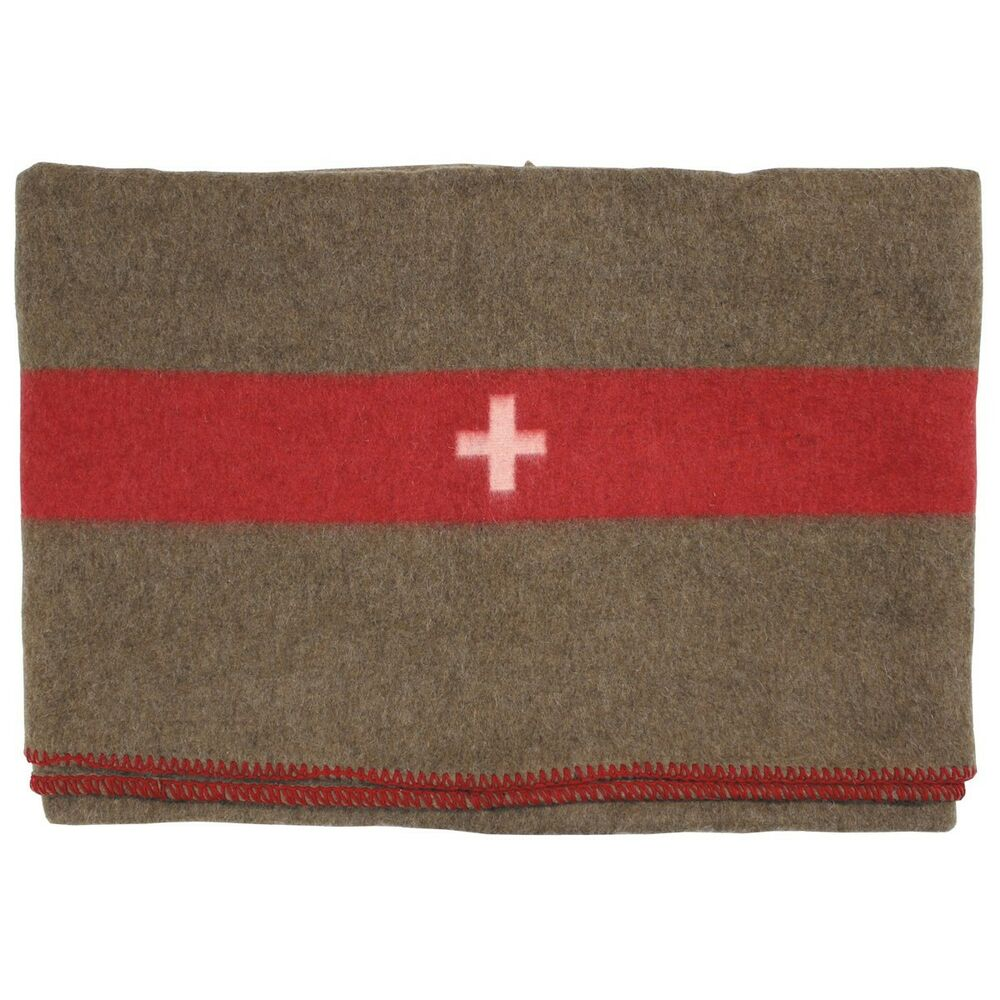 33d715b9ac Details about High Quality WW2 Swiss Army Wool Vintage Military Blanket  200x150cm - Repro