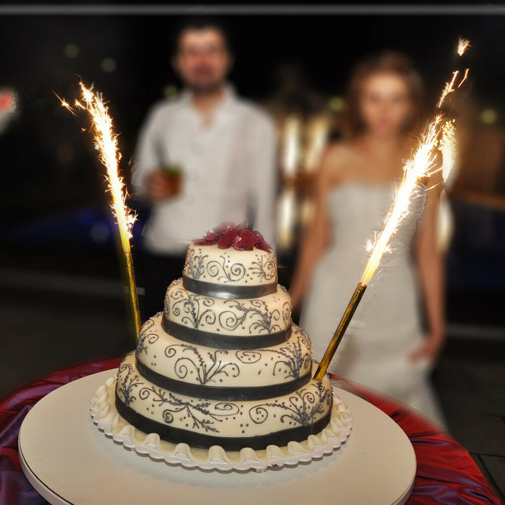 Details About LARGE PACK OF 6 BIRTHDAY WEDDING ENGAGEMENT FOUNTAIN CANDLE PARTY CAKE SPARKLING