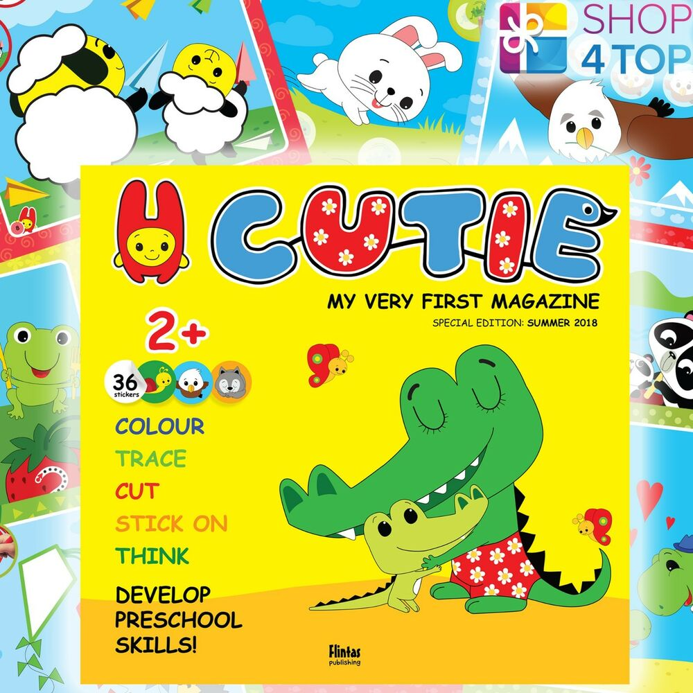 Details about cutie educative magazine kids children stickers creative learning educational