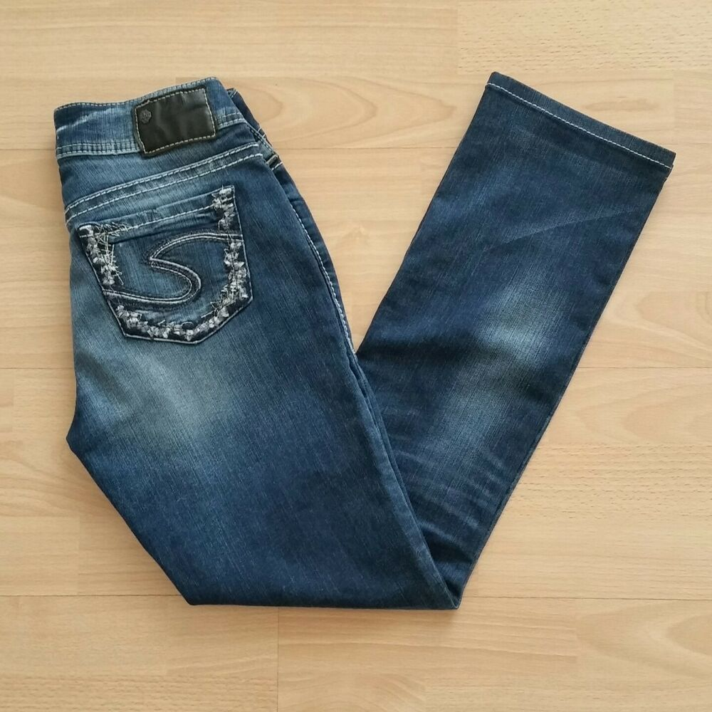 Silver Women S Suki Mid Baby Boot Stretch Jeans Size 26