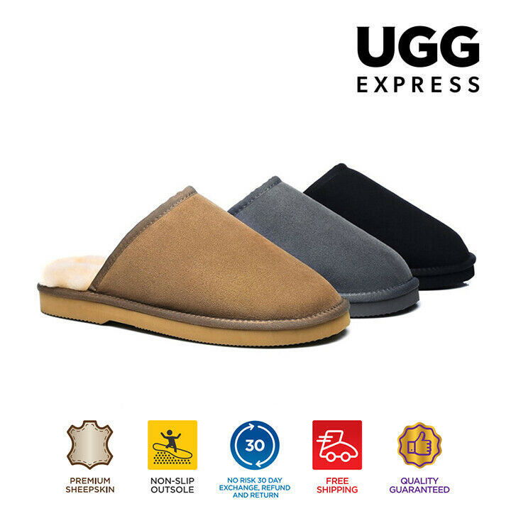 6c819b4048fe EVER UGG Fine Wool Scuff Slippers Australian Double Face Sheepskin Non Slip  Sole