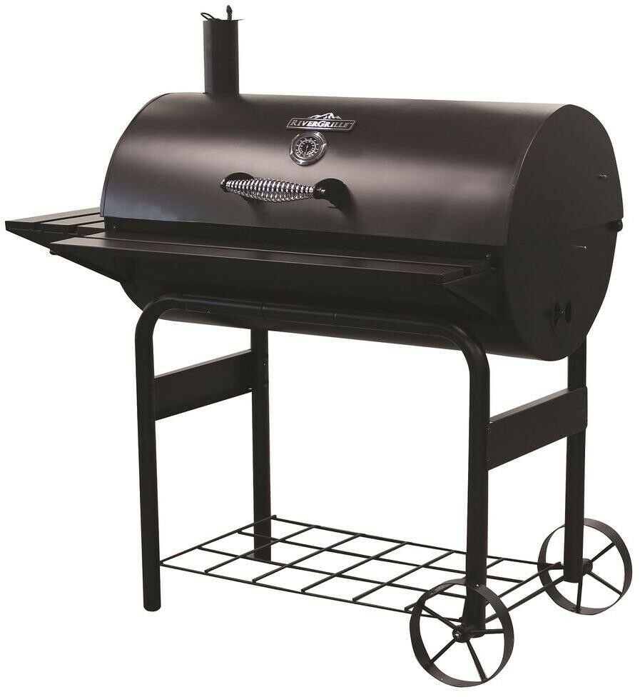 Details About Charcoal Wood Barrel Bbq Grill Barbecue Outdoor Cooker Cg2053904 Rg 37 5 In Out
