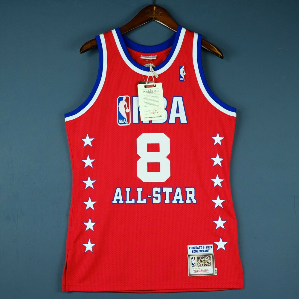 62ed96fb0e48 Details about 100% Authentic Kobe Bryant Mitchell Ness 2003 All Star Jersey  Mens Size 40 M