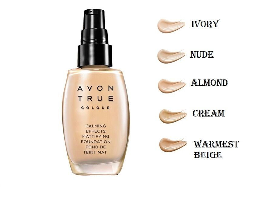 Avon True Colour Calming Effects Mattifying Make Up Foundation 30ml
