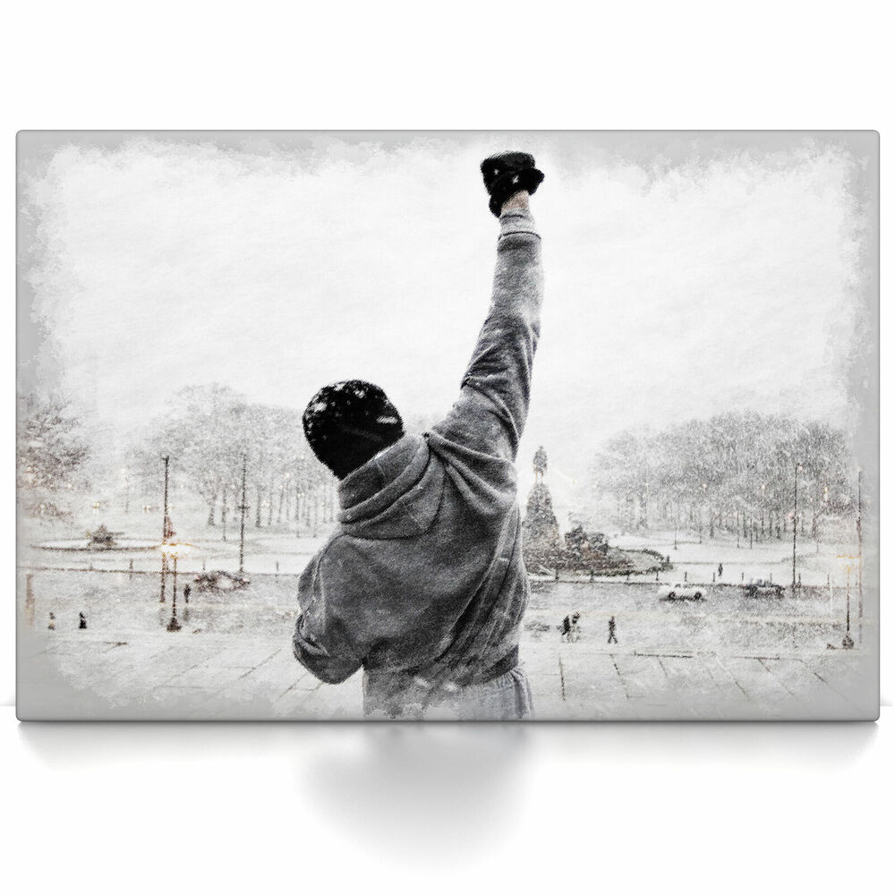 rocky balboa poster oder leinwand bild auf keilrahmen. Black Bedroom Furniture Sets. Home Design Ideas