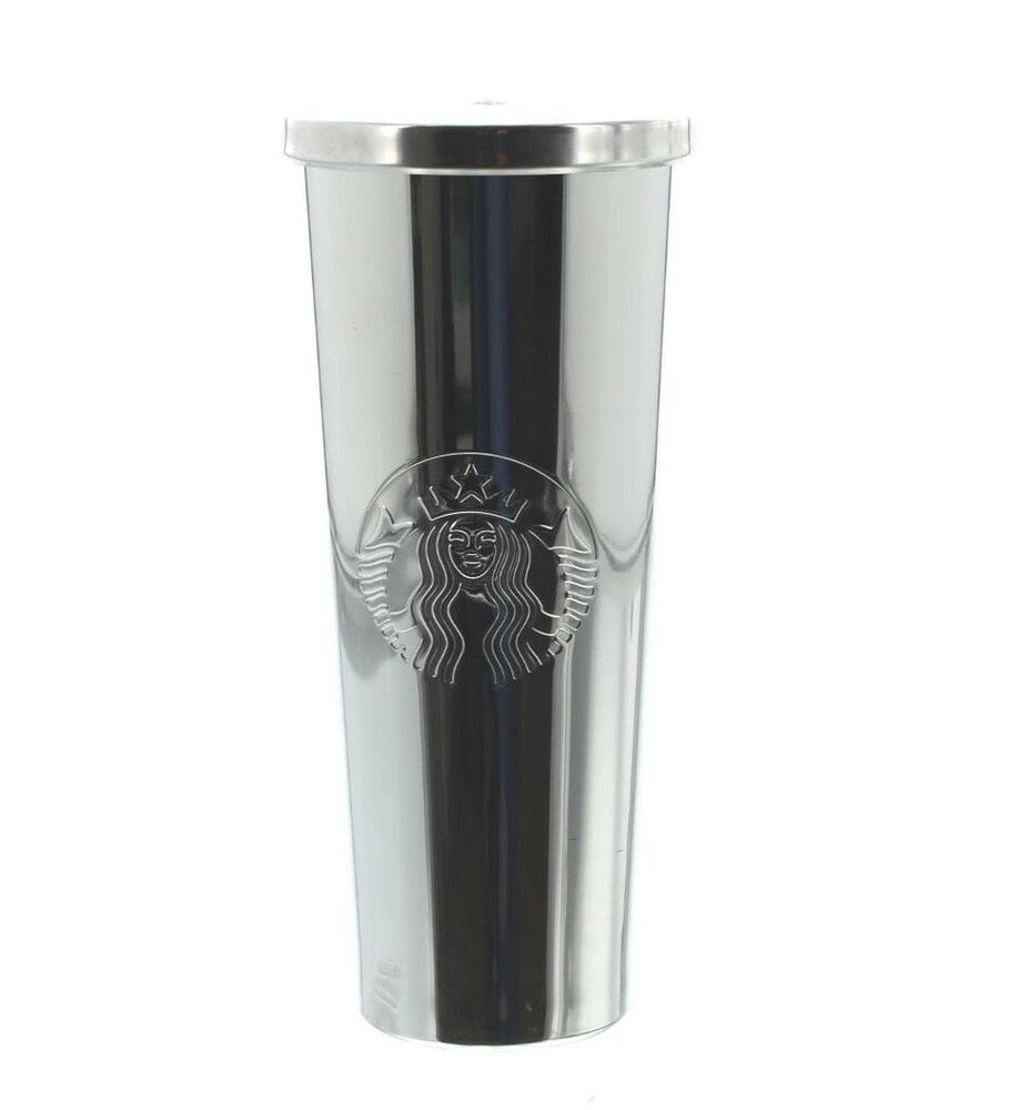 Starbucks 24 Oz Stainless Steel Silver Siren Cold Cup