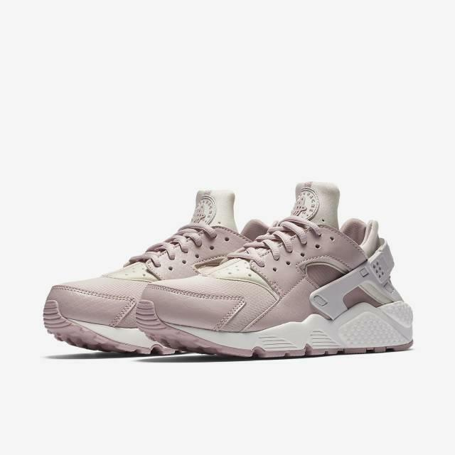 detailed look 4103b 1ac17 Details about NIKE WMNS AIR HUARACHE RUN 634835 029 VAST GREY PARTICLE ROSE  PINK WHITE - SNAKE
