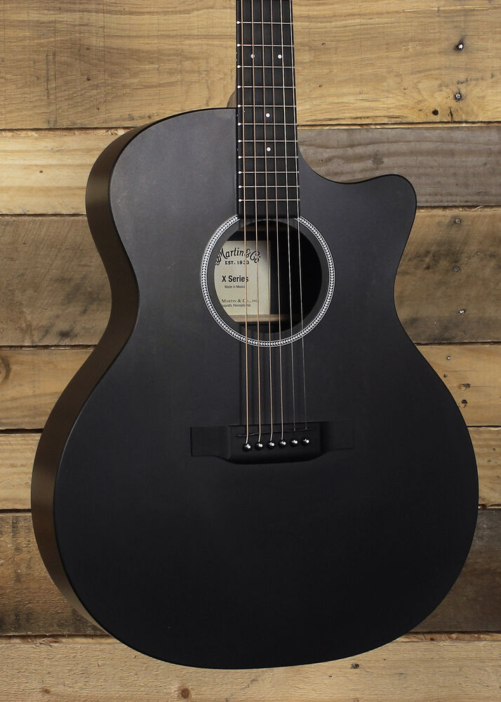 martin gpcxae black acoustic guitar ebay. Black Bedroom Furniture Sets. Home Design Ideas