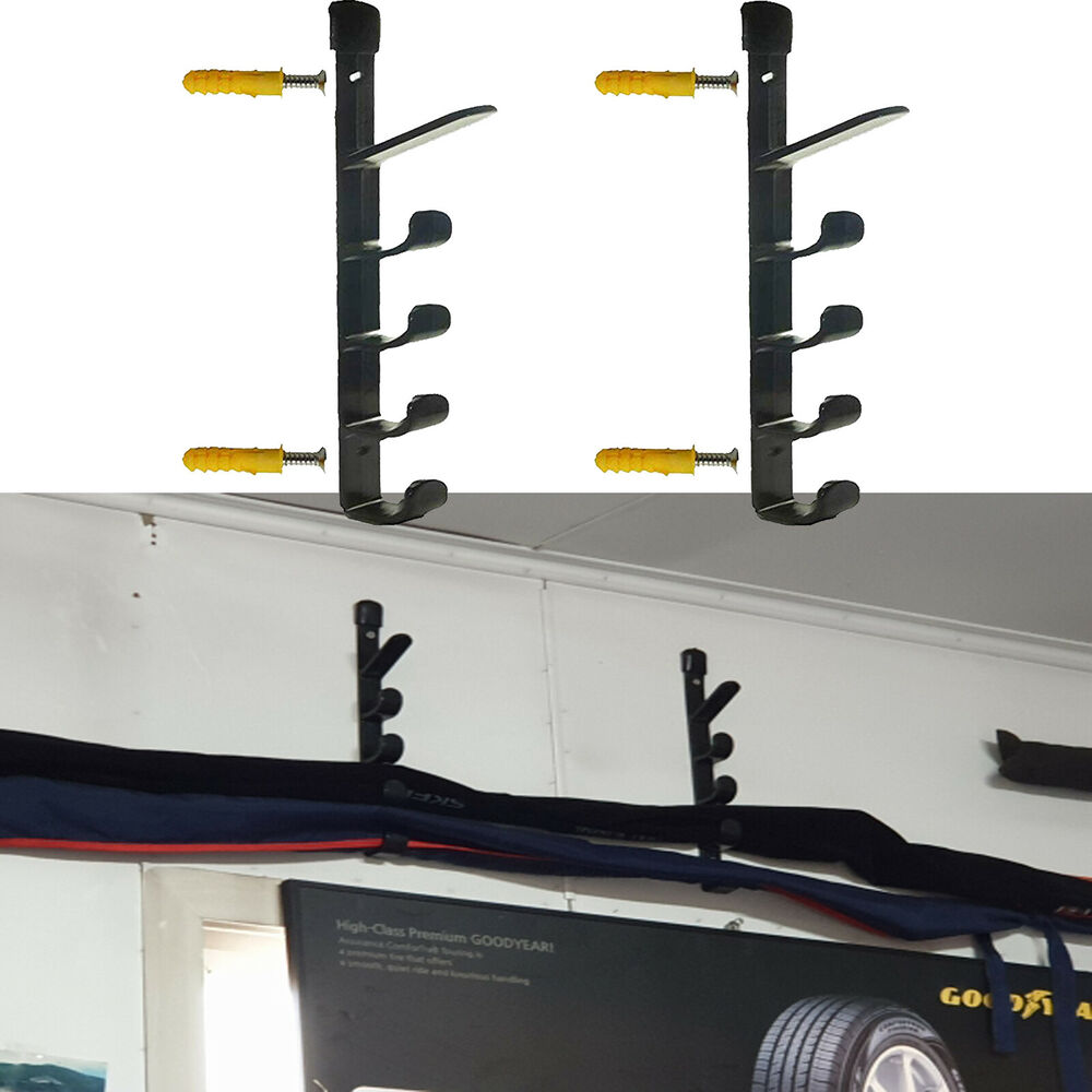Fishing Rod Pole Reel Holder Garage Wall Mount Rods Rack