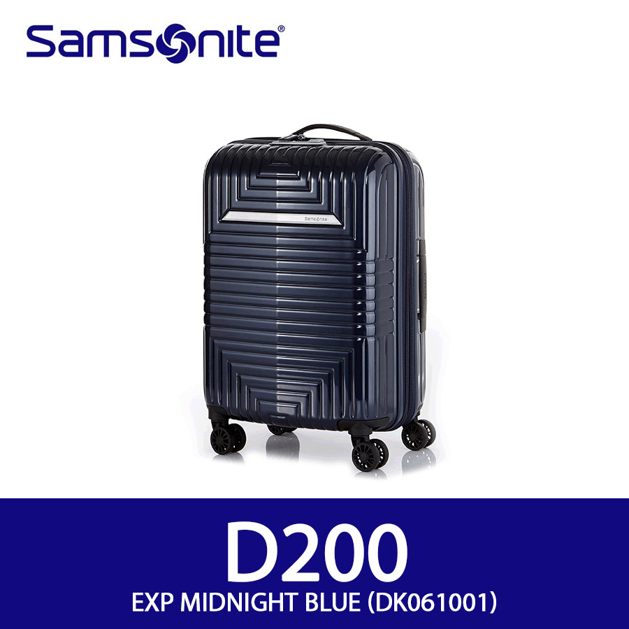 91f9a2ca8c Details about Samsonite D200 Spinner 55/20 Exp On-Boarding-Use TSA 3.15Kg  PC EMS Midnight Blue