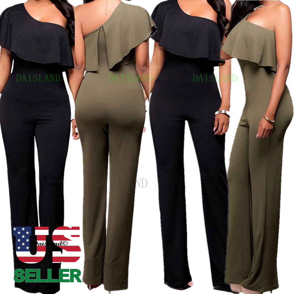 e5ba9ab384 Women Jumpsuit Romper Bodycon Playsuit Clubwear Trousers Party Long Dress  Pants
