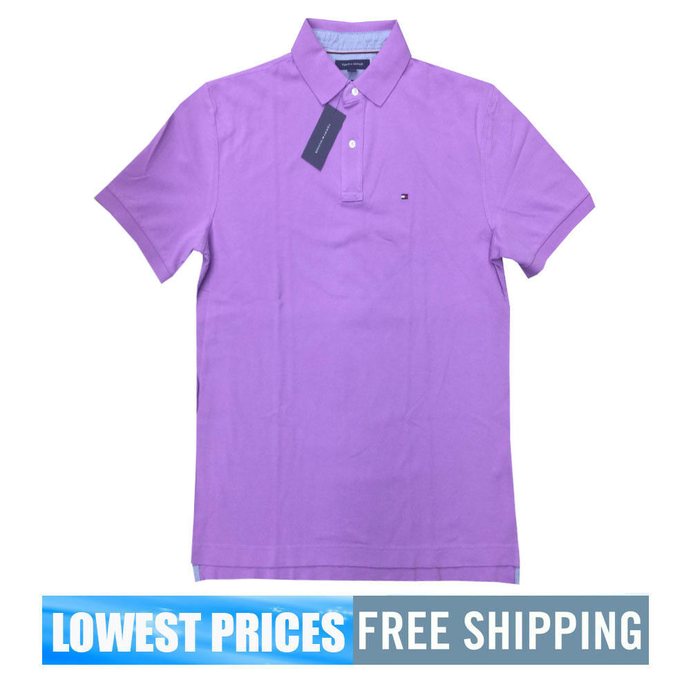 Tommy Hilfiger Nwt Mens Classic Fit Lavender Purple Basic Sp Polo