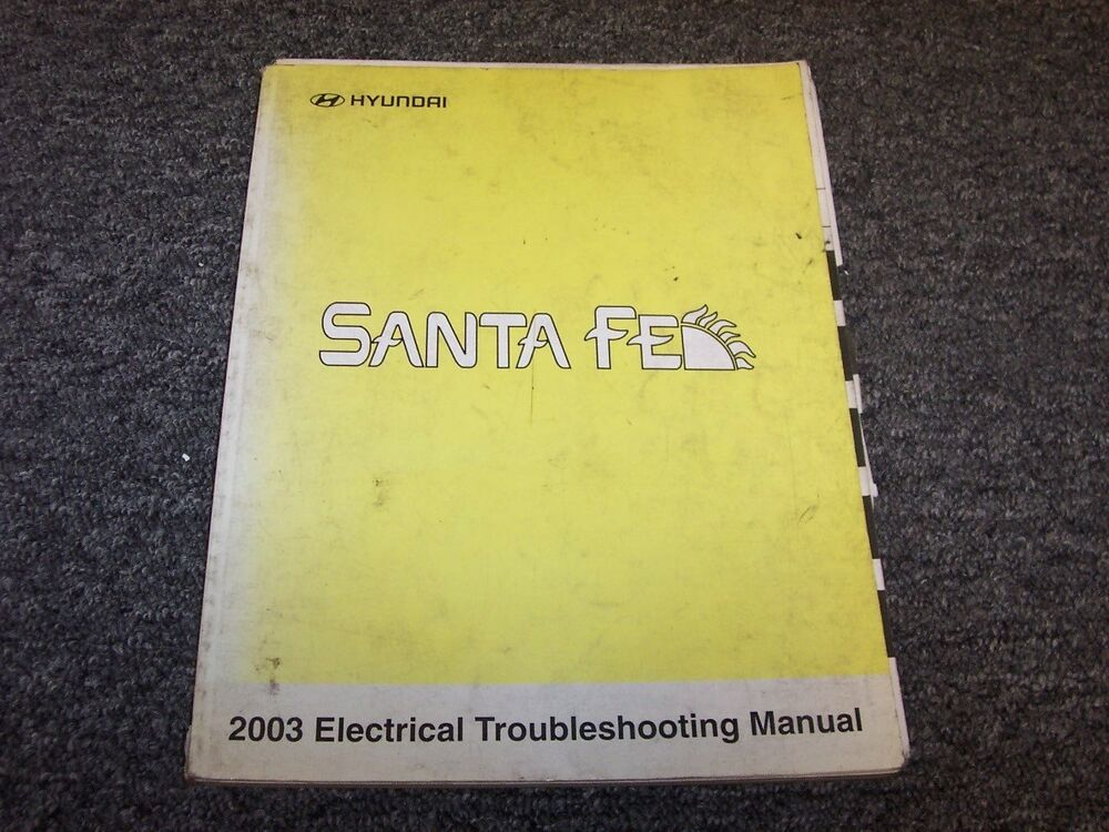2003 Hyundai Santa Fe Electrical Wiring Diagram Manual Gls Lx 2 4l 2 7l 3 5l V6