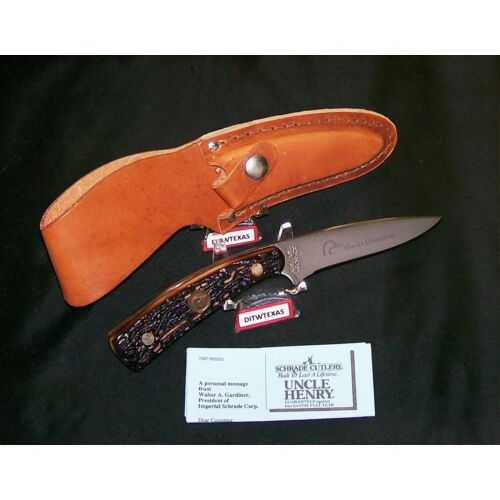 schrade-154uh-knife-sheath-the-badger-ducks-unlimited-1990s-stag-appearance