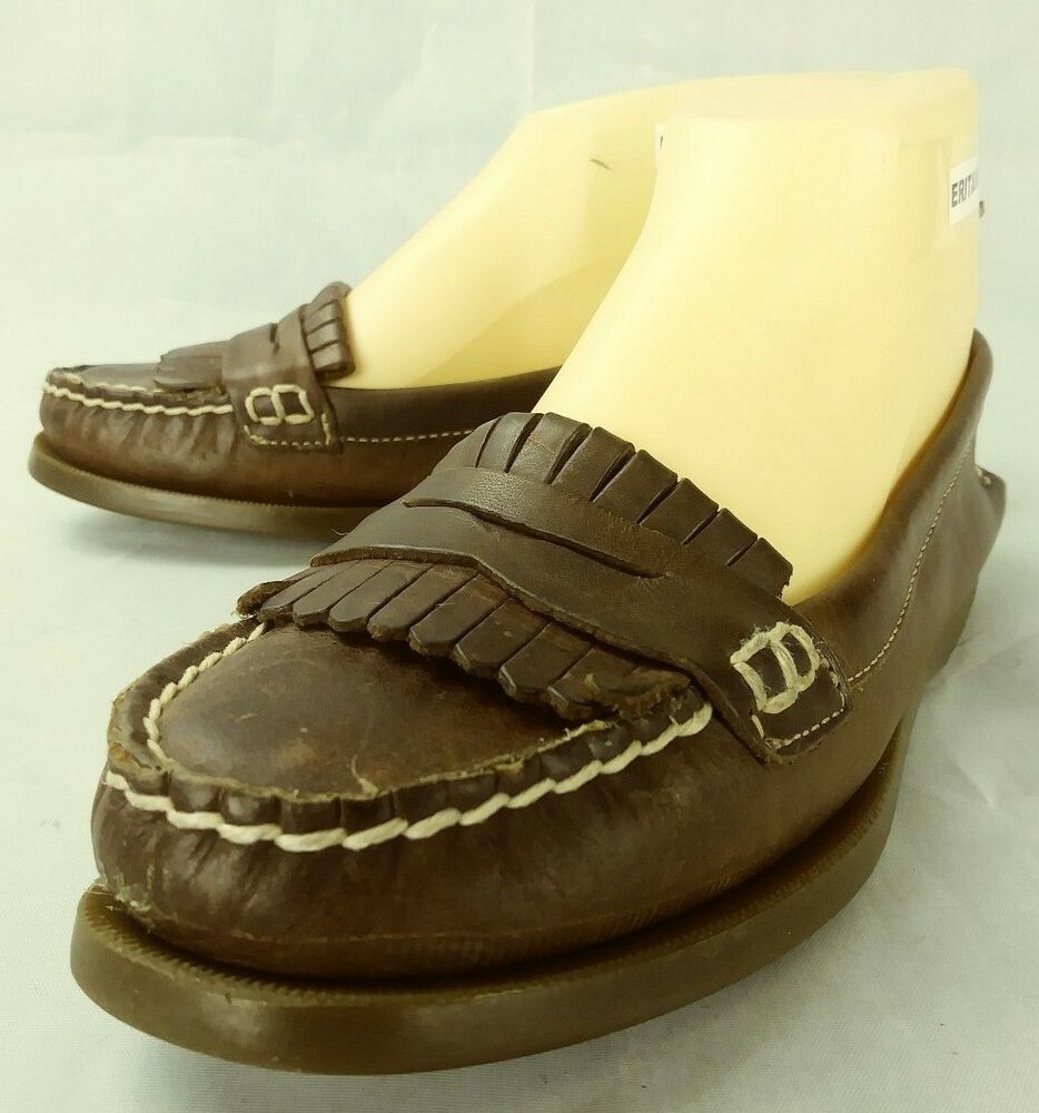 Sperry Top Sider Wos Penny Loafers US 6.5 M Brown Leather ...
