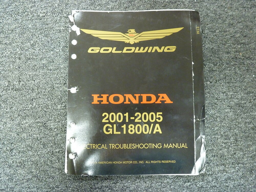 2001 2002 Honda Gl1800 Gl1800a Goldwing Electrical Wiring Troubleshooting Manual