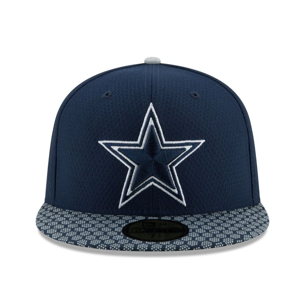 online store be295 0204b Details about NewEra Dallas Cowboys Navy 2017 Sideline Official 59FIFTY  Fitted Hat-SIZE- 7 5 8