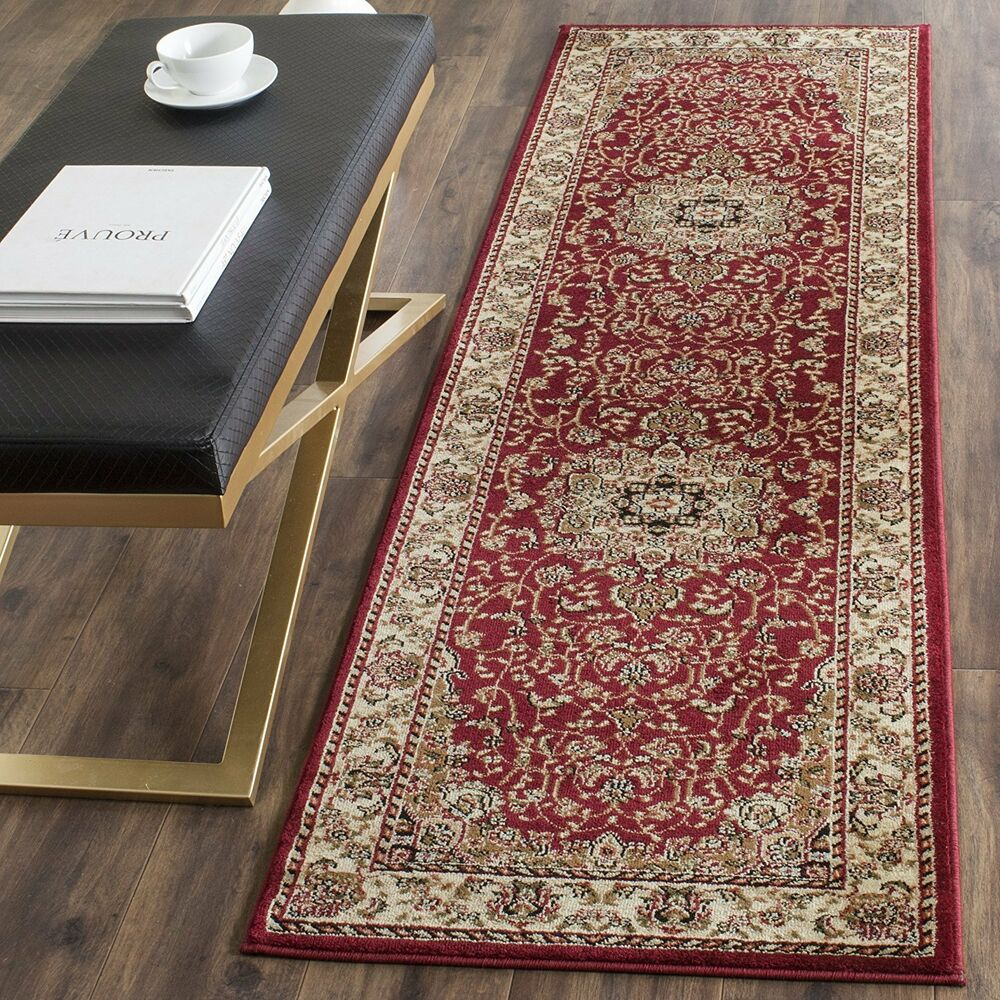 Long Runner Traditional Oriental Red Gold Area Rug Free Shipping