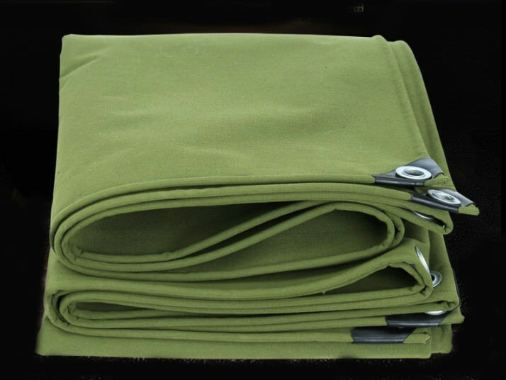 Heavy Duty Canvas Tarp Waterproof Outdoor Shelter Camping