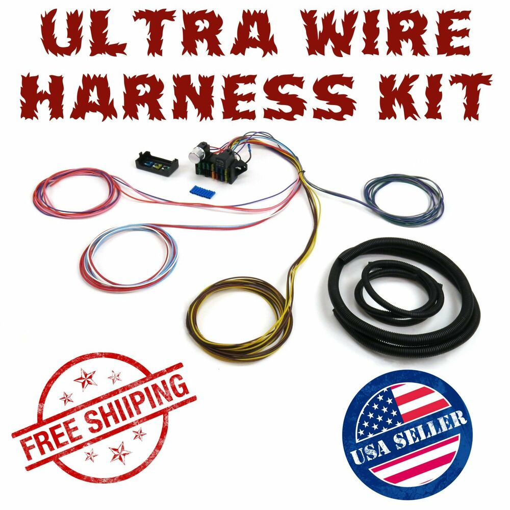details about 1937 - 1939 chevy wire harness fuse block upgrade kit hot rod  rat rod street rod