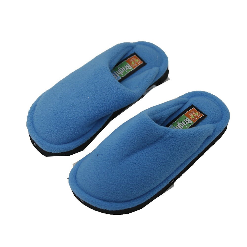 82d8c8e0b04 Details about Bright Feet Lighted Comfortable   Lightweight Slippers Blue  Youth Medium