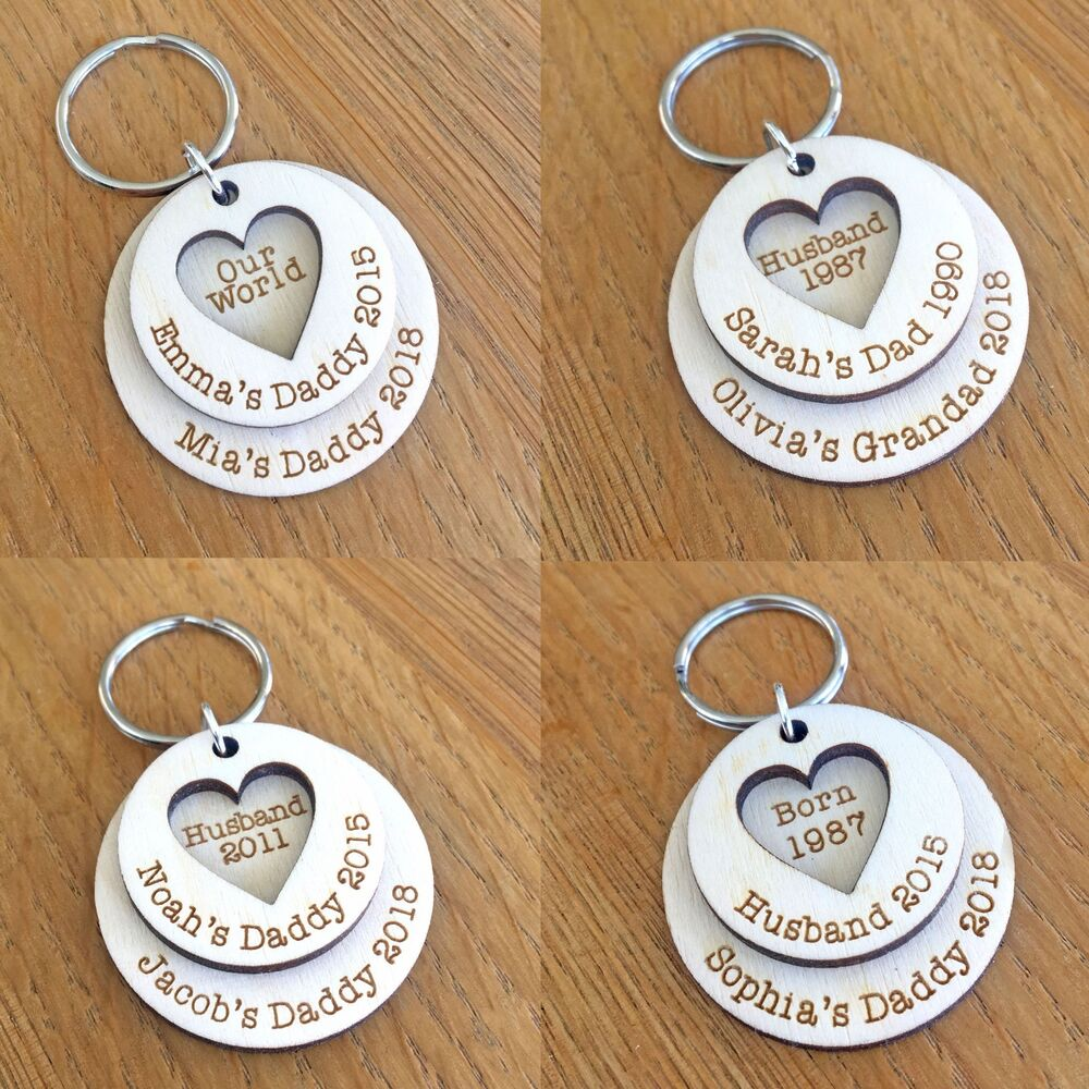 Details about Personalised Fathers Day Gifts For Daddy Grandad Dad Him Husband Keyring Gifts