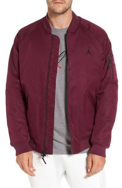 Details about NEW ~ Nike Jordan Sportswear Wings MA-1 Bomber Jacket  Burgundy Wine Small 68d3a7a56