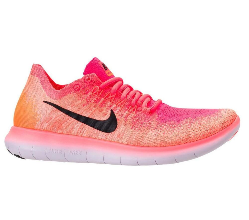 cd0cd171addb6 Details about Womens NIKE FREE RN FLYKNIT 2017 Bright Mango Running  Trainers 880844 800