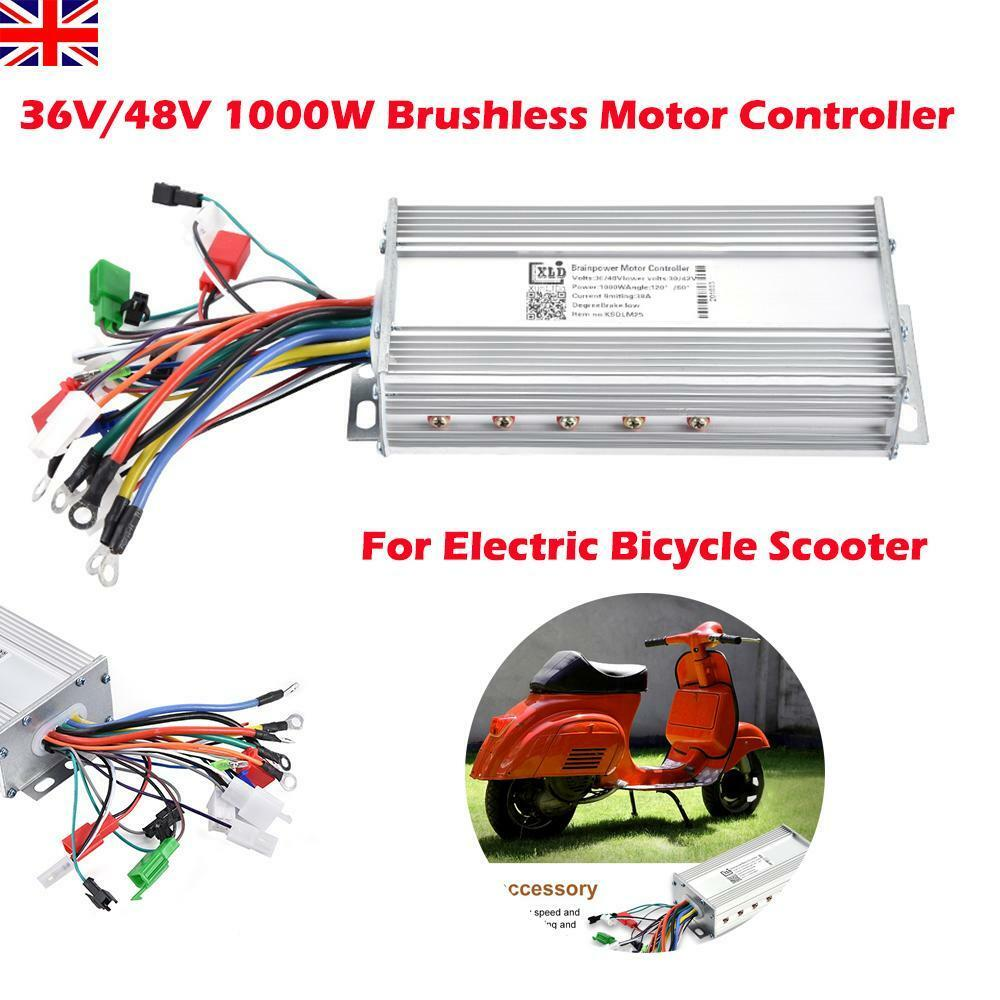 36v 48v 1000w Brushless Speed Controller Scooter E Bike Bicycle Motor Wiring Electric Ebay