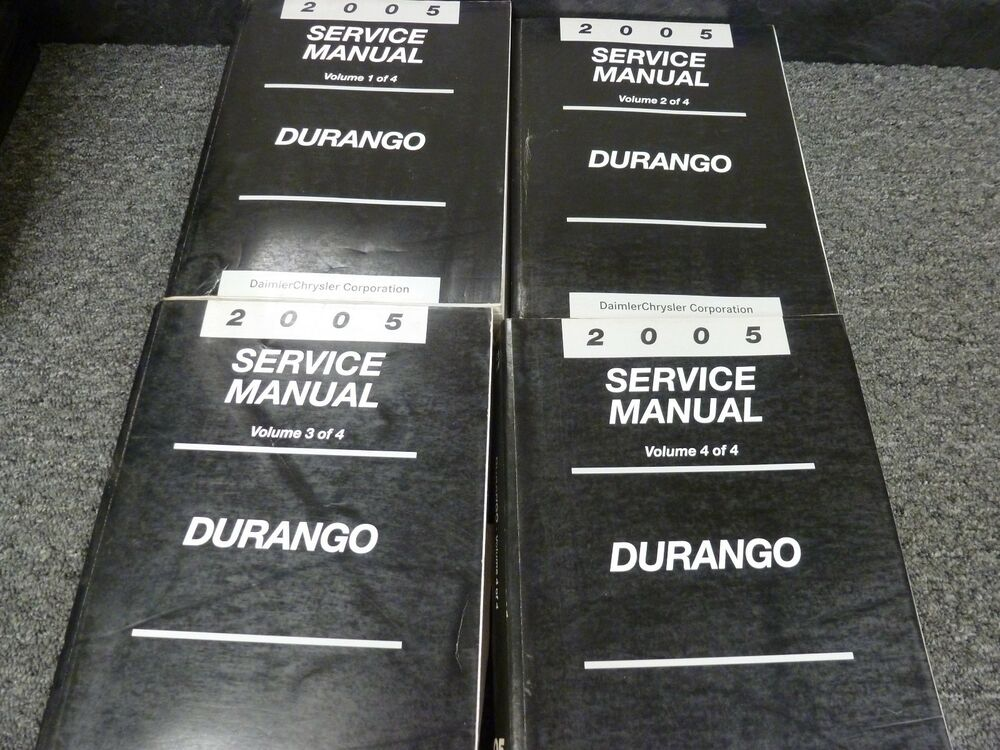 2005 Dodge Durango Suv Shop Service Repair Manual Set St Sxt Slt Limited 4wd