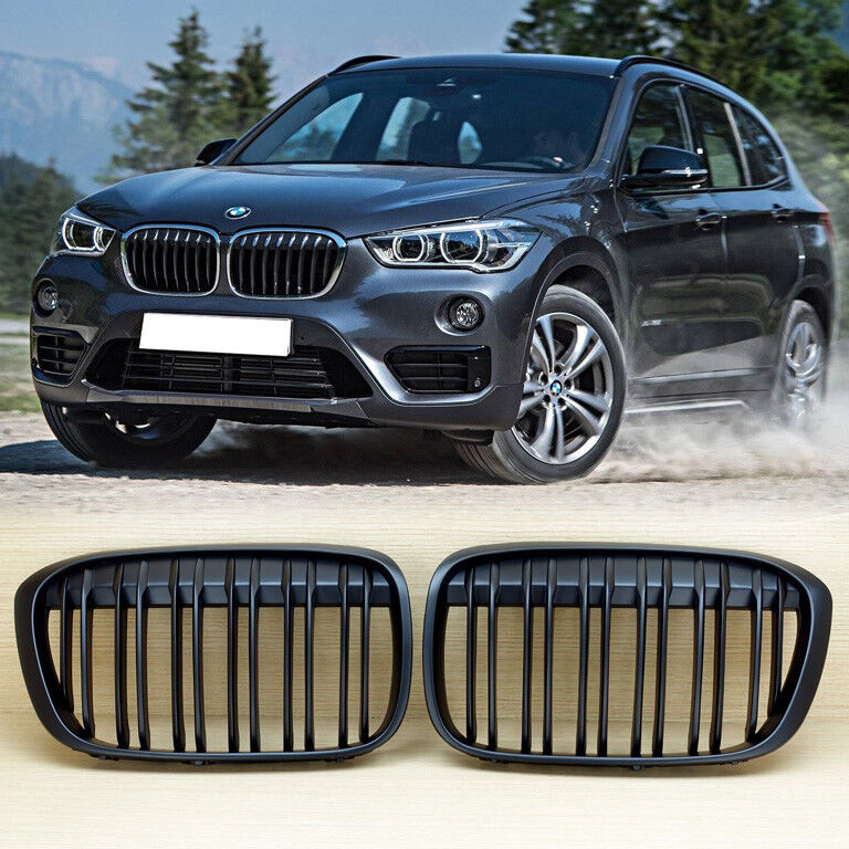 X Series M Style For Bmw X1 F48 F49 Matte Black 2016 2018 Front