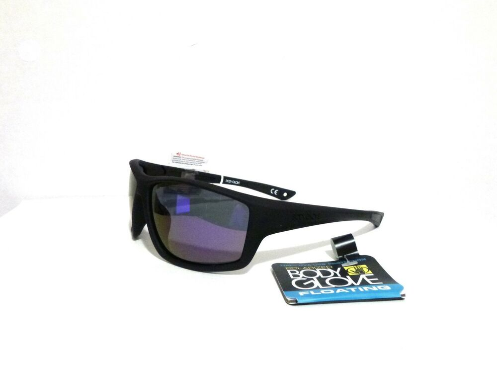 63e75bfd6ae47 Details about BODY GLOVE FL 21 POLARIZED FLOATING SUNGLASSES BLACK PURPLE  MIRROR WRAP 5-7923