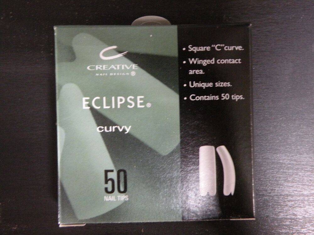 CREATIVE CND ECLIPSE NATURAL NAIL TIPS for Acrylic UV Gel Size #1-10 ...