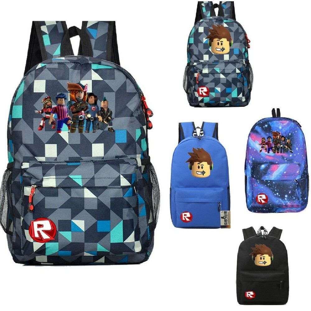 4a727ad2d2bd Details about 2018 UK Roblox Backpack Kids School Bag Students Boys Bookbag  Handbags Travelbag