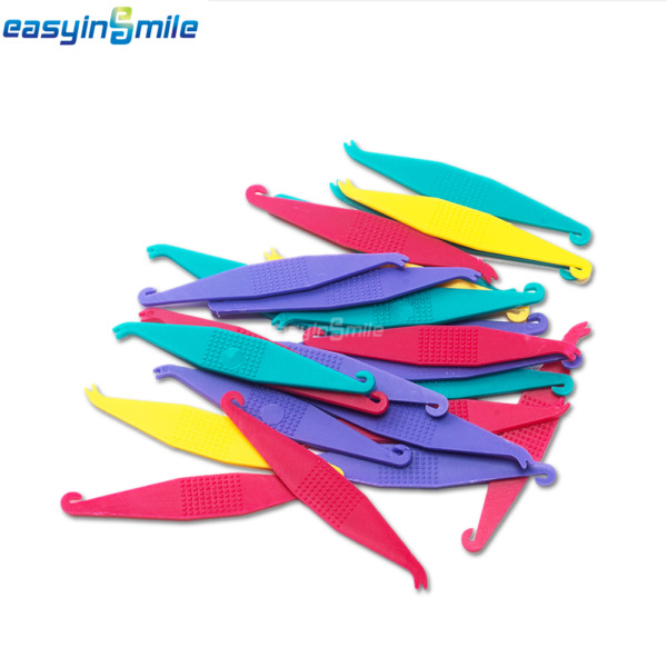100X Orthodontic Elastic Placer for Braces--Elastic Rubber Band Placers MixColor