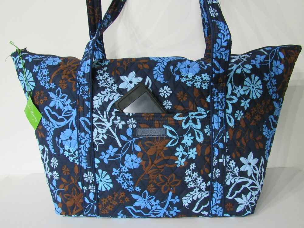 Details about Vera Bradley Large Weekender Travel Bag in Java Floral w   Matching Wallet NEW f243070440159
