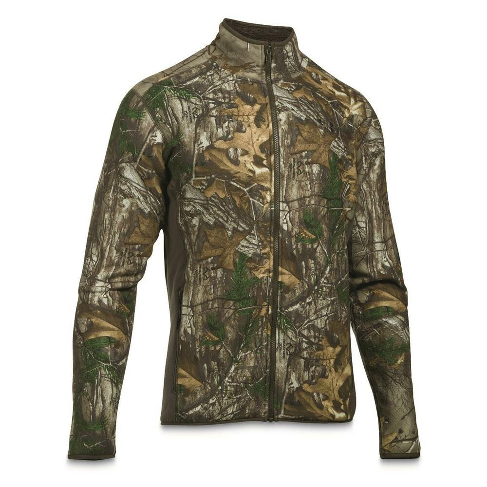 834c835ee426b Details about NEW UNDER ARMOUR UA Men's Stealth Mid-Season Fleece Lined Jacket  Camo 2XL XXL