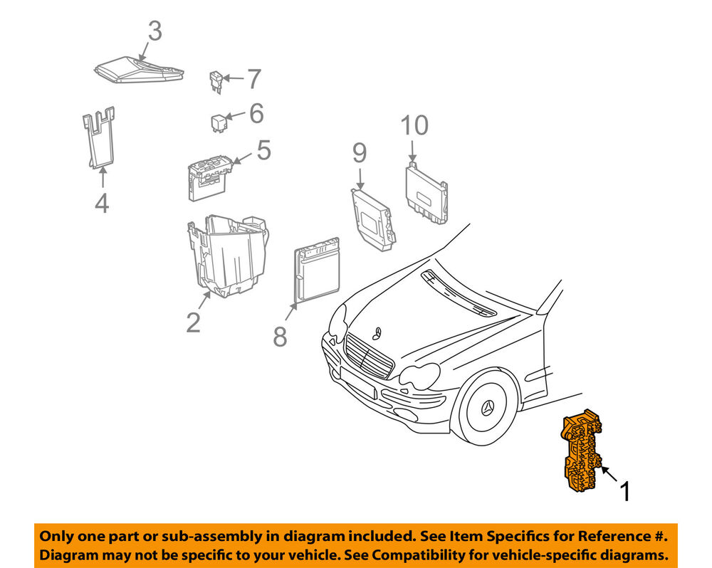 details about mercedes oem 03-06 clk500 electrical-fuse & relay box  2035400050