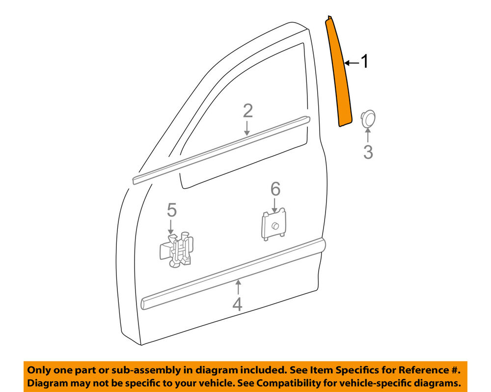 Details About Mercedes Oem E320 Front Door Lique Window Trim Left 2116903187