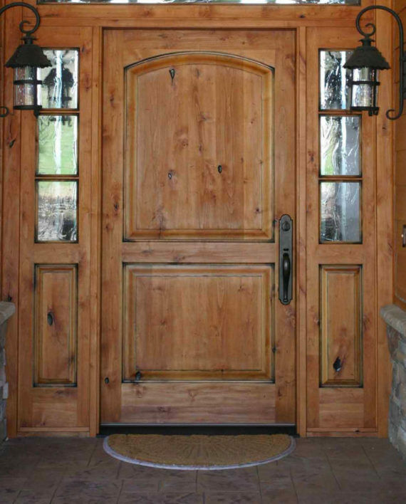 Tuscan Style Entry Door With 3 Lite Sidelites Ebay