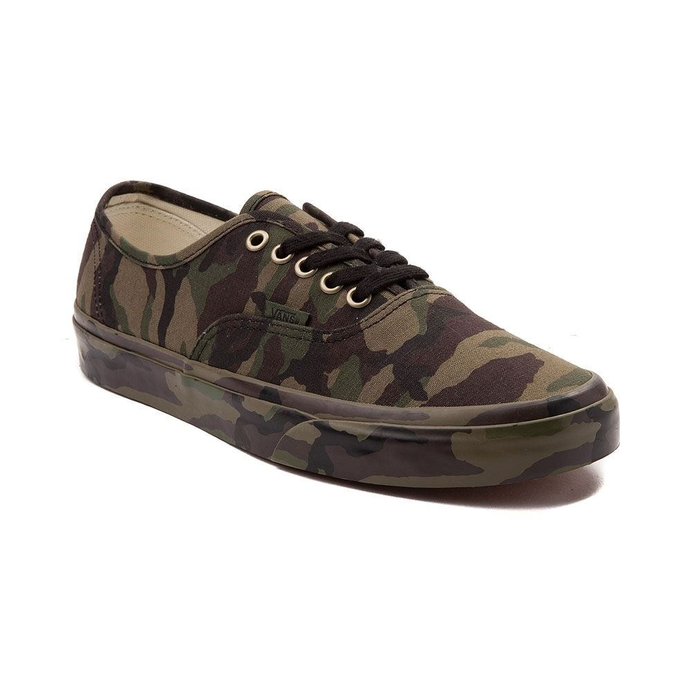 51f436c791914b Details about New Vans Authentic Camo Mono Skate Shoe Olive Monotone Mens  Shoes