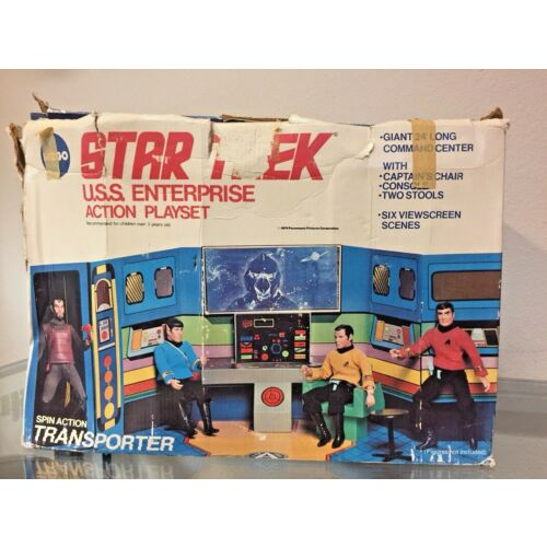 mego-1975-star-trek-uss-enterprise-action-play-set-with-4-figures-