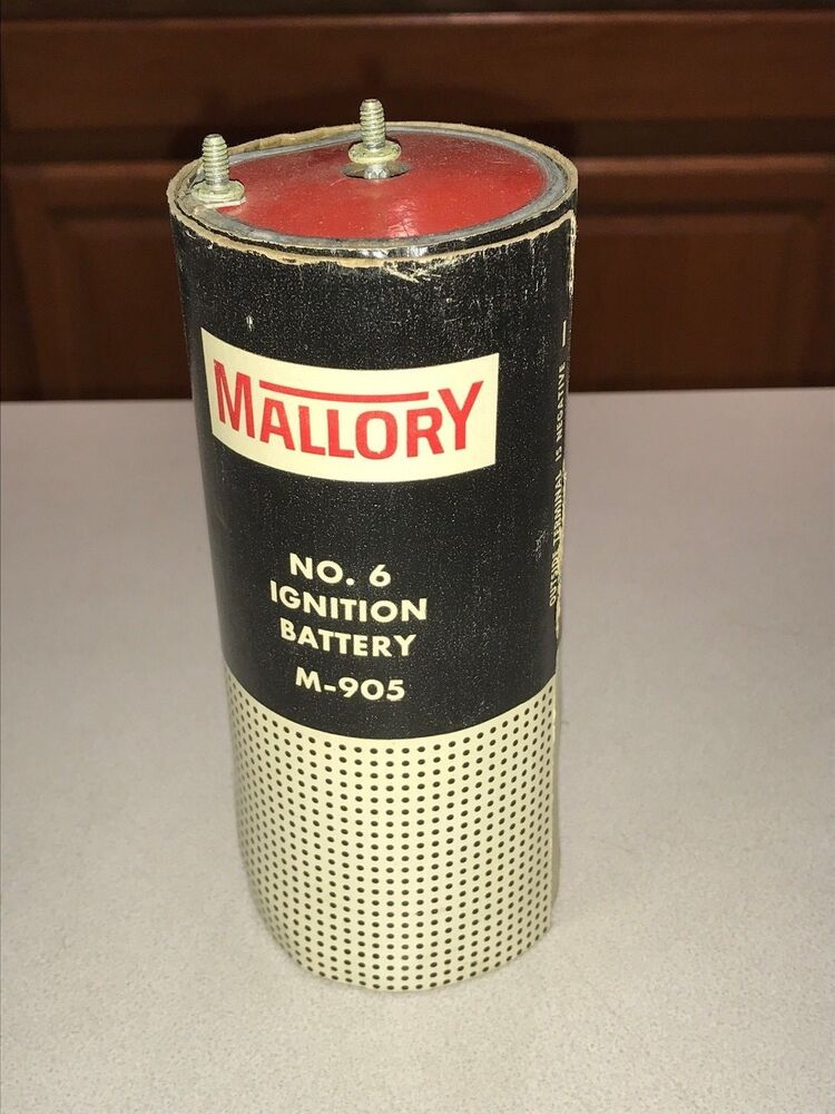 Vintage Mallory No  6 Ignition Battery M