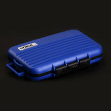Blue Memory Card Storage Carry Waterproof Shockproof Case Holder For CF/SD/TF