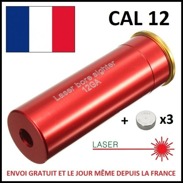 CALIBER LASER ADJUSTING CARTRIDGE CAL 12 GAUGE LAZER CANON ALIGNMENT BULLET E