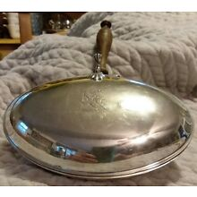 Crescent Silverware mfg. Vintage Silver Butler's Ashtray-Crumb Catcher-NICE