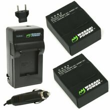 Wasabi Power Battery (2-Pack) and Charger for GoPro HERO3 & HERO3+