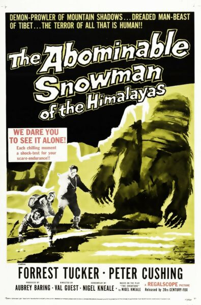The Abominable Snowman 1957 Canvas Wall Art Movie Poster Sci-Fi Film Print 50s