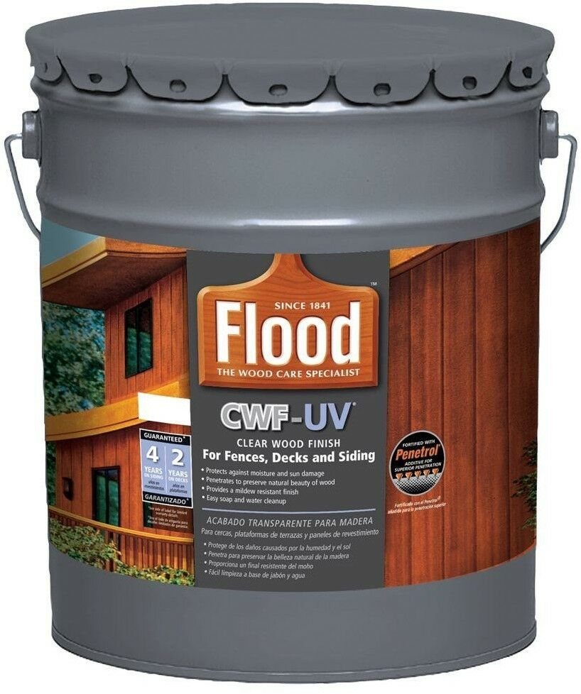 Clear Wood Finish Deck Fence 5 Gallon Oil Based Exterior Uv Protection Quick Dry 10273542206 Ebay