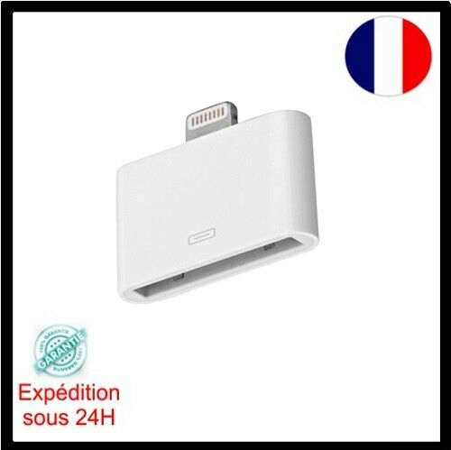 Adaptateur 30 broches vers 8 broches  Blanc pour iPhone 4/4s vers iPhone 5/5C/5S